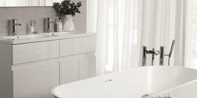 We are advocates in using neutral palettes in modern bathroom design for creating clean and clear lines.