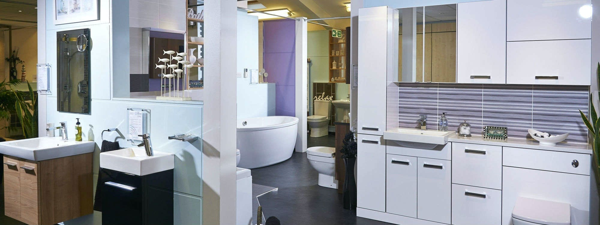 our leeds bathroom showroom is a relaxed inspired space. Black Bedroom Furniture Sets. Home Design Ideas