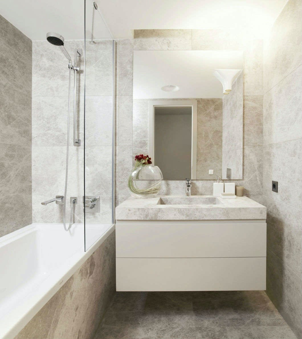 Small bathrooms, designed & installed by More Bathrooms.