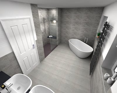 Luxury Bathroom Suite with walk-in shower