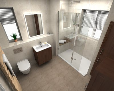 Walk-in shower design