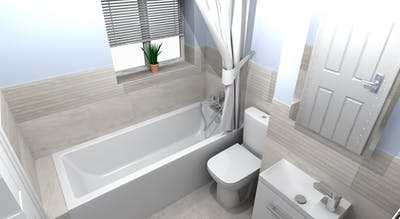 modern bathroom; designed, supplied & installed