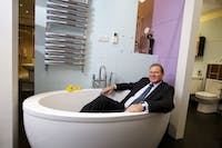 More Bathrooms managing director, tony passmore quizzed by the Yorkshire Post with regards to his business investment