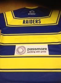 Passmore's sponsor Oulton Raiders Under 16's R.L.F.C