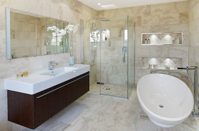 talking tiles - a big design decisions you will have to make when it comes to renovating your bathroom.