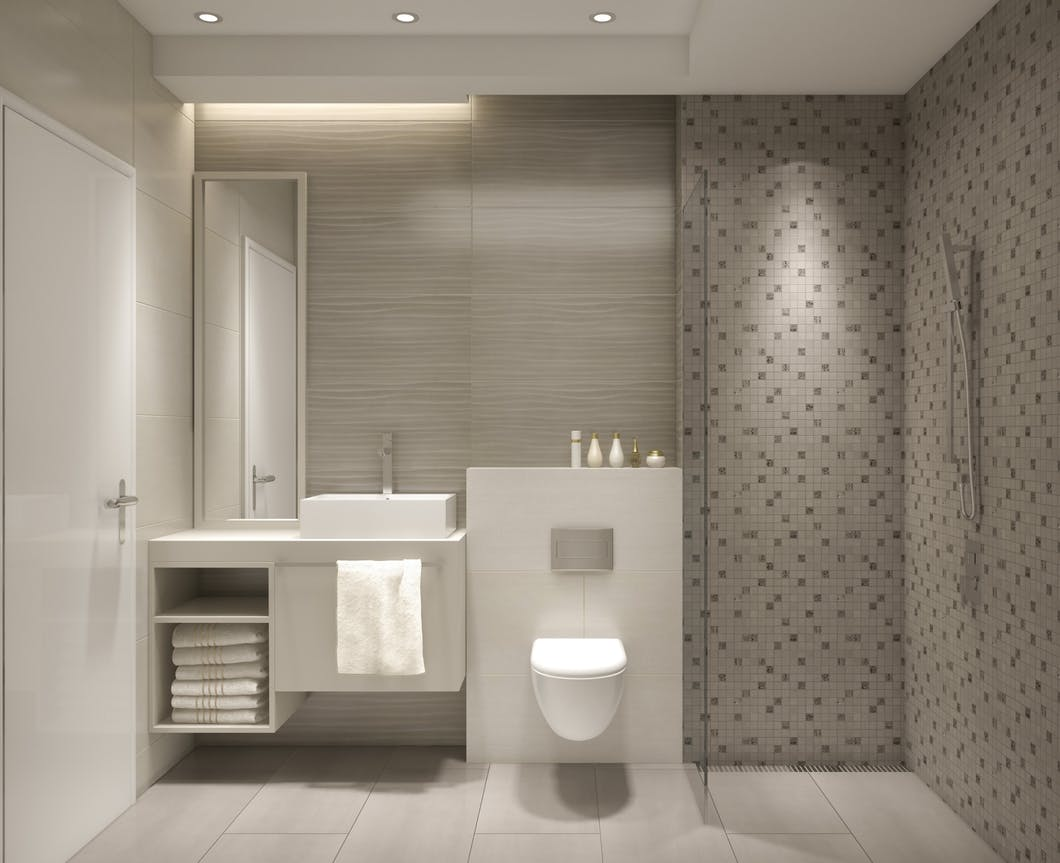 bathroom storage - Back-to-wall furniture, also known as 'fitted furniture' is designed to conceal the cistern and any pipe work, WC & basin, in a semi-recessed setting in order to create a clean design which is relatively maintenance free.