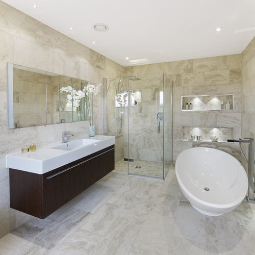 Modern contemporary bathrooms - designed, supplied & installed