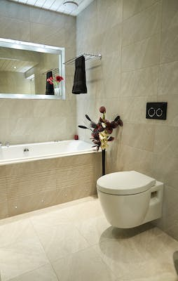 Luxury bathroom display at our Showroom
