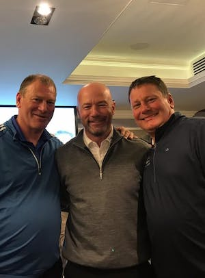 Passmore brothers take part in golf day to support Teenage Cancer Trust charity.