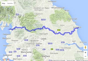coast to coast cycle route