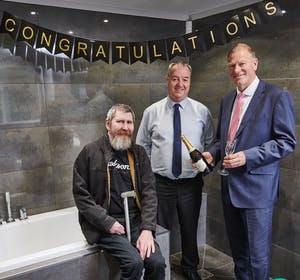 Harrogate resident scoops £6,000 easy access bathroom as company celebrates continued growth.