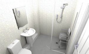 safe & practical wet floor shower - designed, supplied & installed
