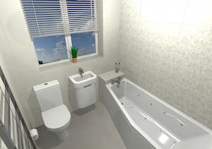 Small Bathroom - designed, supplied & installed