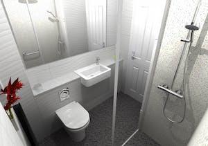 wet floor shower - designed, supplied & installed
