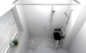 bespoke showering solution for independent or assisted bathing
