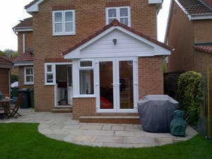 double storey house extension in meanwood
