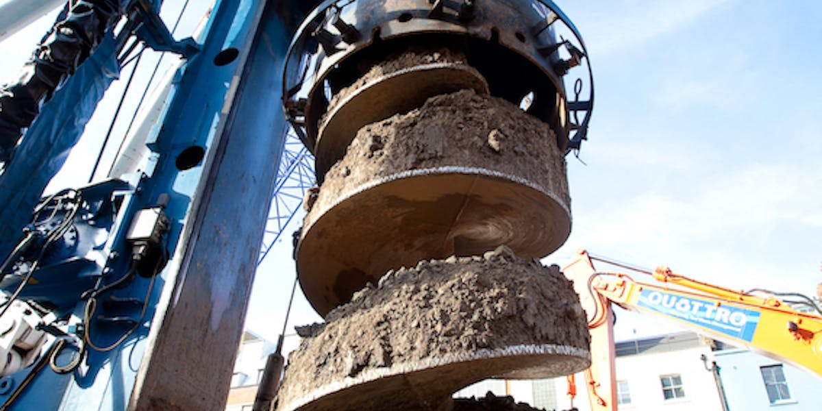 Piling auger (image courtesy of Balfour Beatty Ground Engineering)