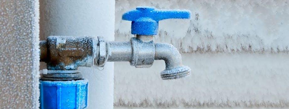 Frozen outdoor tap