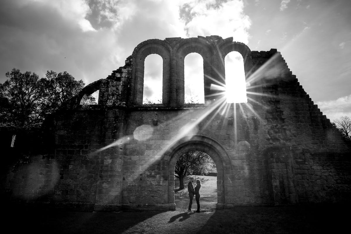 Fountains Abbey Engagement Photography at Fountains Abbey Ripon North Yorkshire