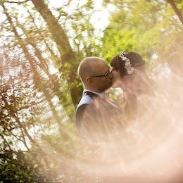 Helina & Richard on their wedding day at Sandburn Hall in York