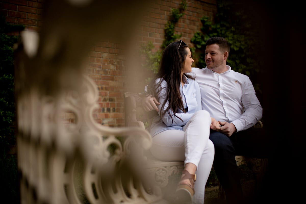 Engagement photography shoot by Sarah Bruce  at Rossington Hall in Doncaster South Yorkshire