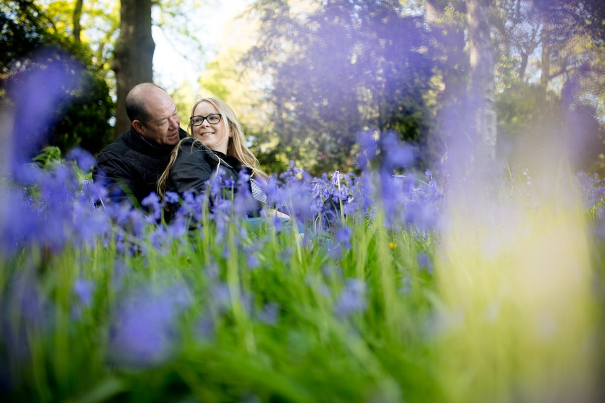 Louise and Rob's engagement photography at Cannon Hall Park South Yorkshire