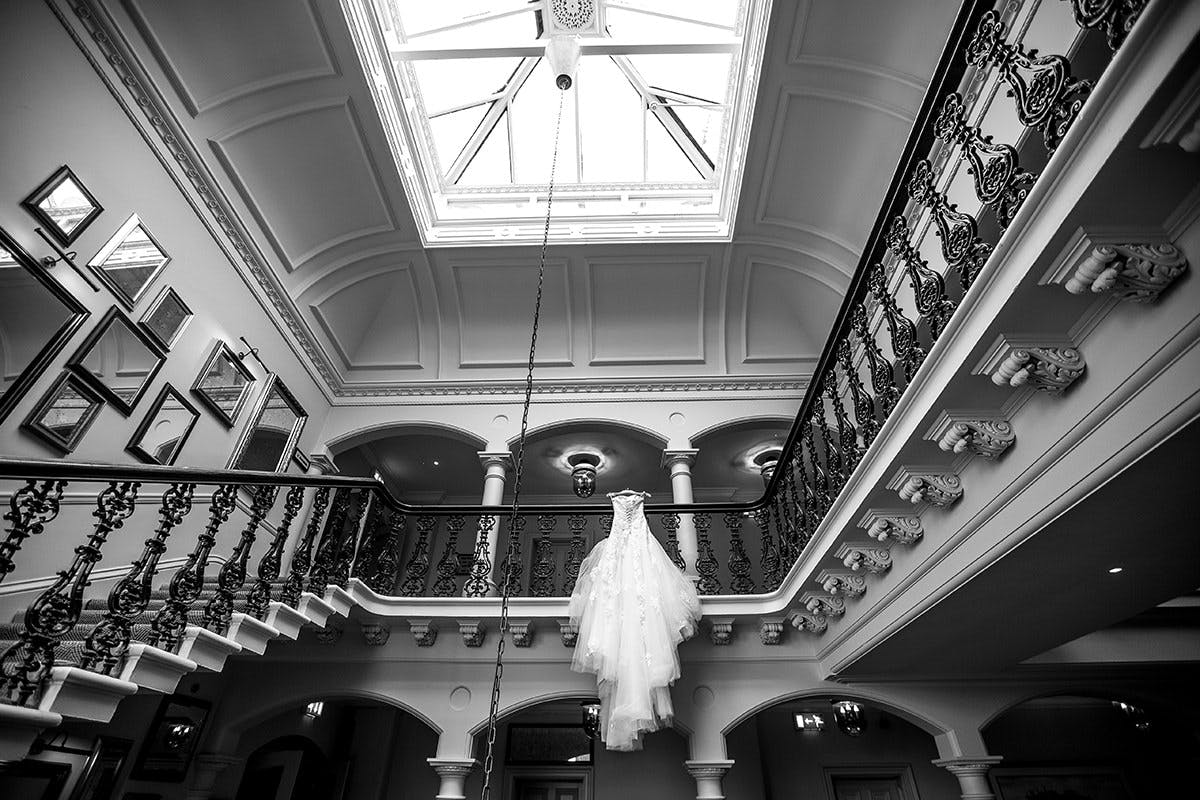 Louie's wedding dress at The Principal York Hotel