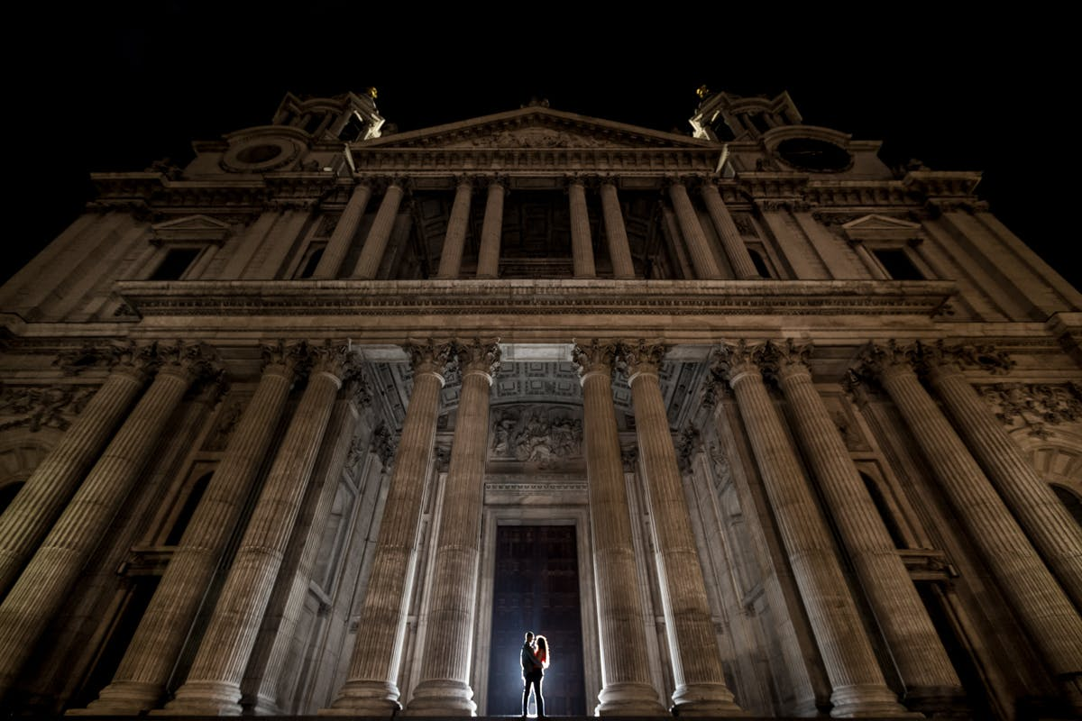 Wedding photography in London at St Pauls