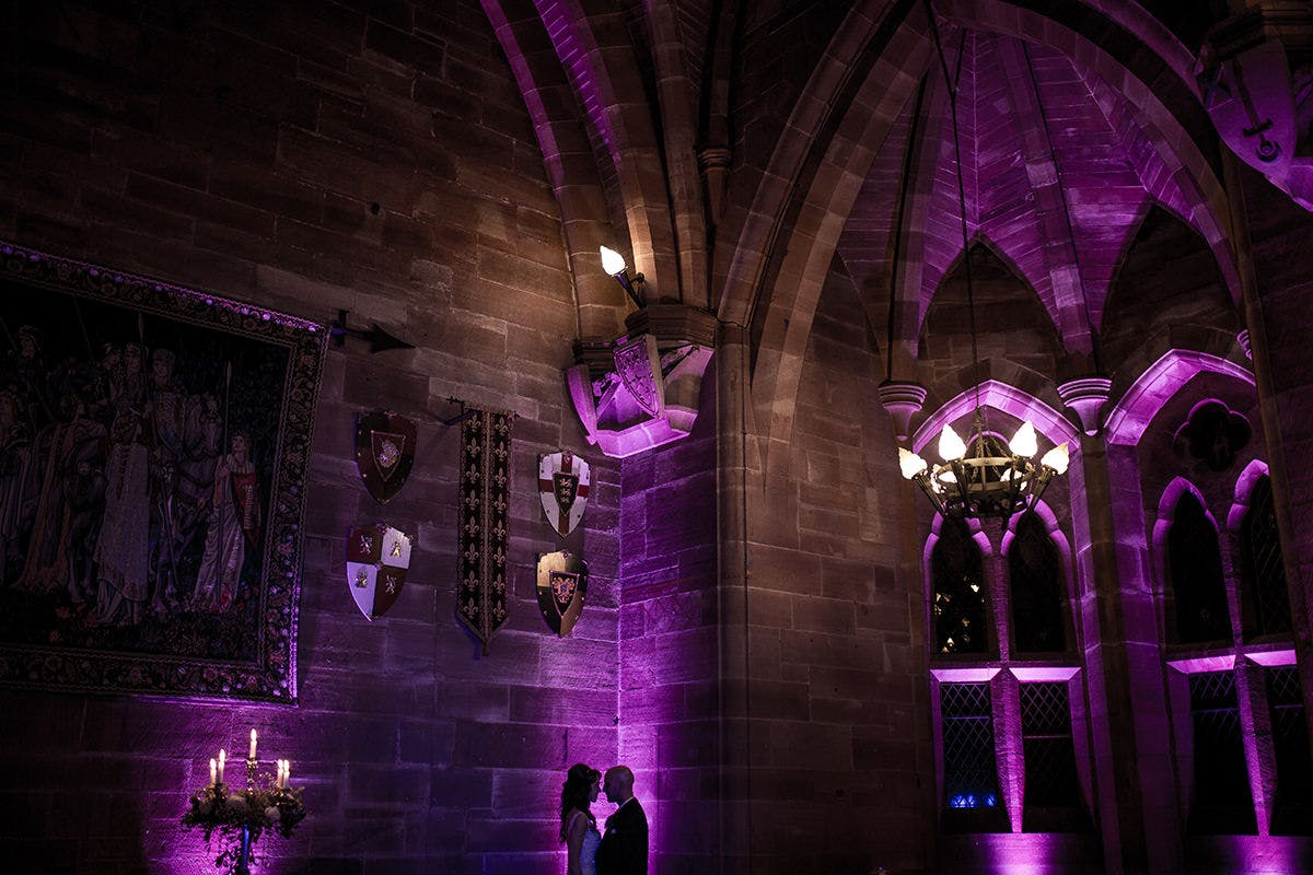 Sam & Daves wedding photography at Peckforton Castle In Cheshire