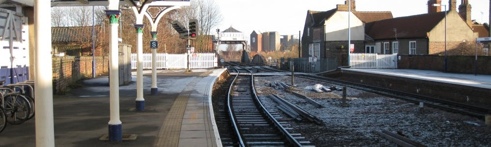 Selby station looking towards the swingbridge