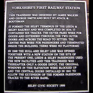 Yorkshire's first railway station