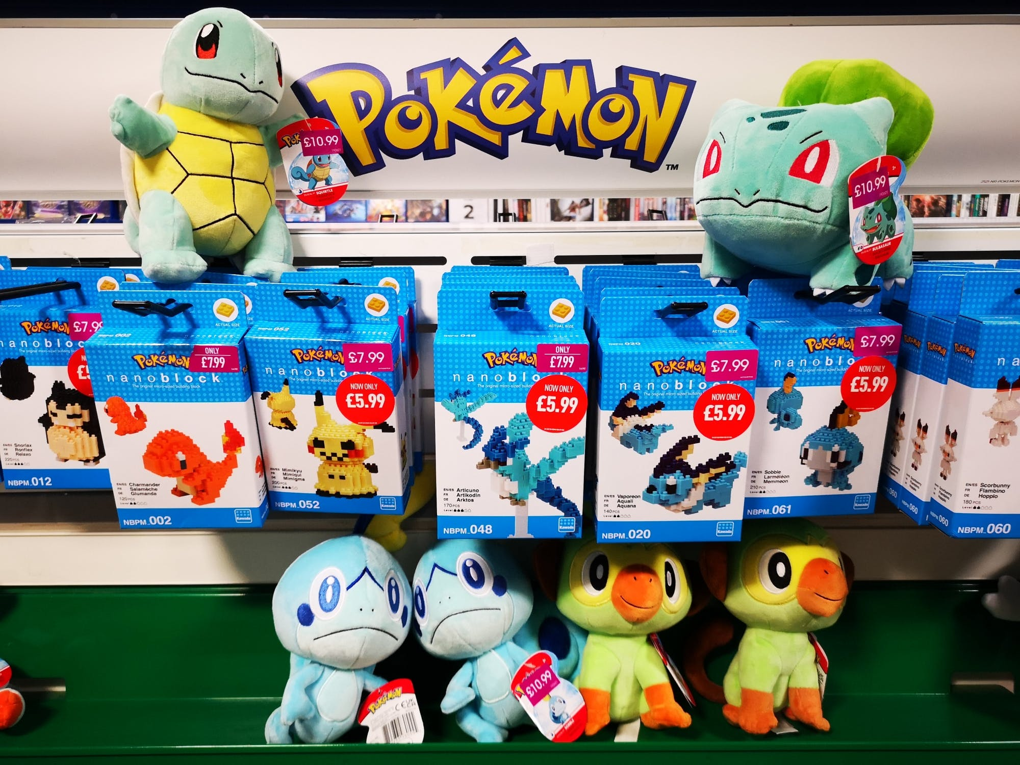 We know Pokemon is massive in Wakey so catch 'em all at great prices, from plush toys to games and everything in between. From £5.99