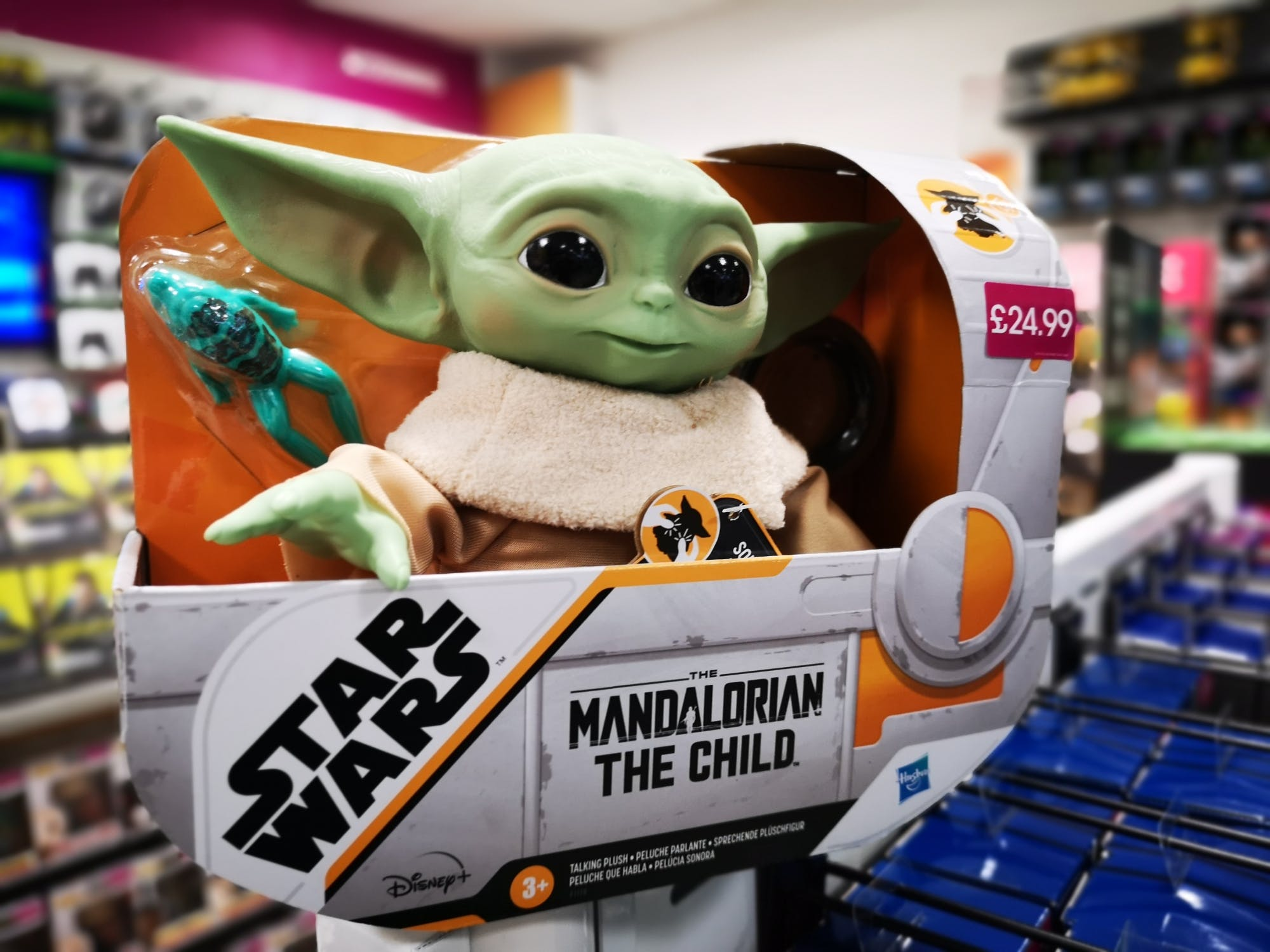 This gift will be a real asset to anyone - get it? For The Madalorian fans...'Baby Yoda' is cuddly , but tough and it talks. Get it before it goes £24.99
