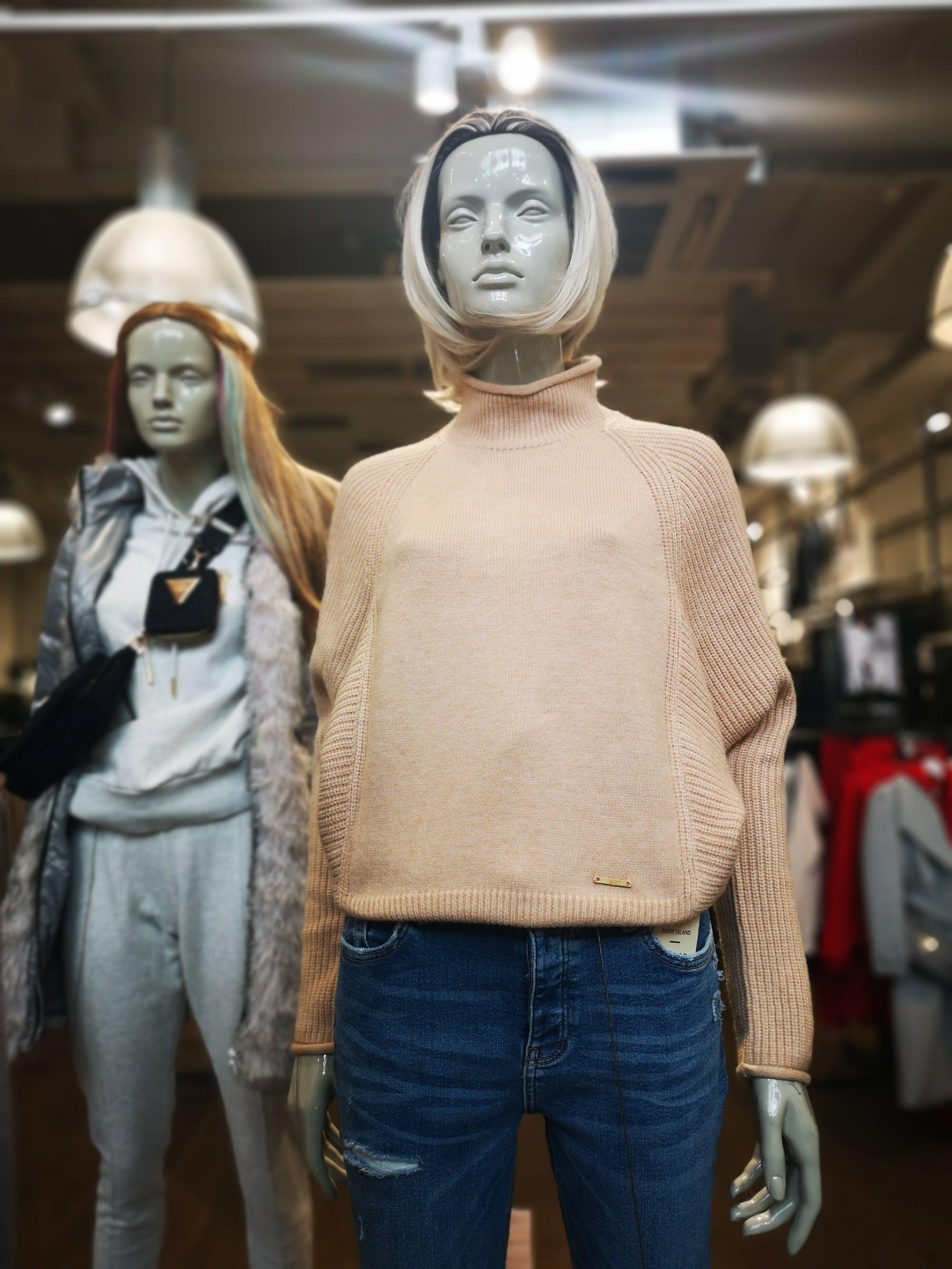 Bang on trend, warm, sexy camel coloured turtle neck jumper at River island is just luscious. £30