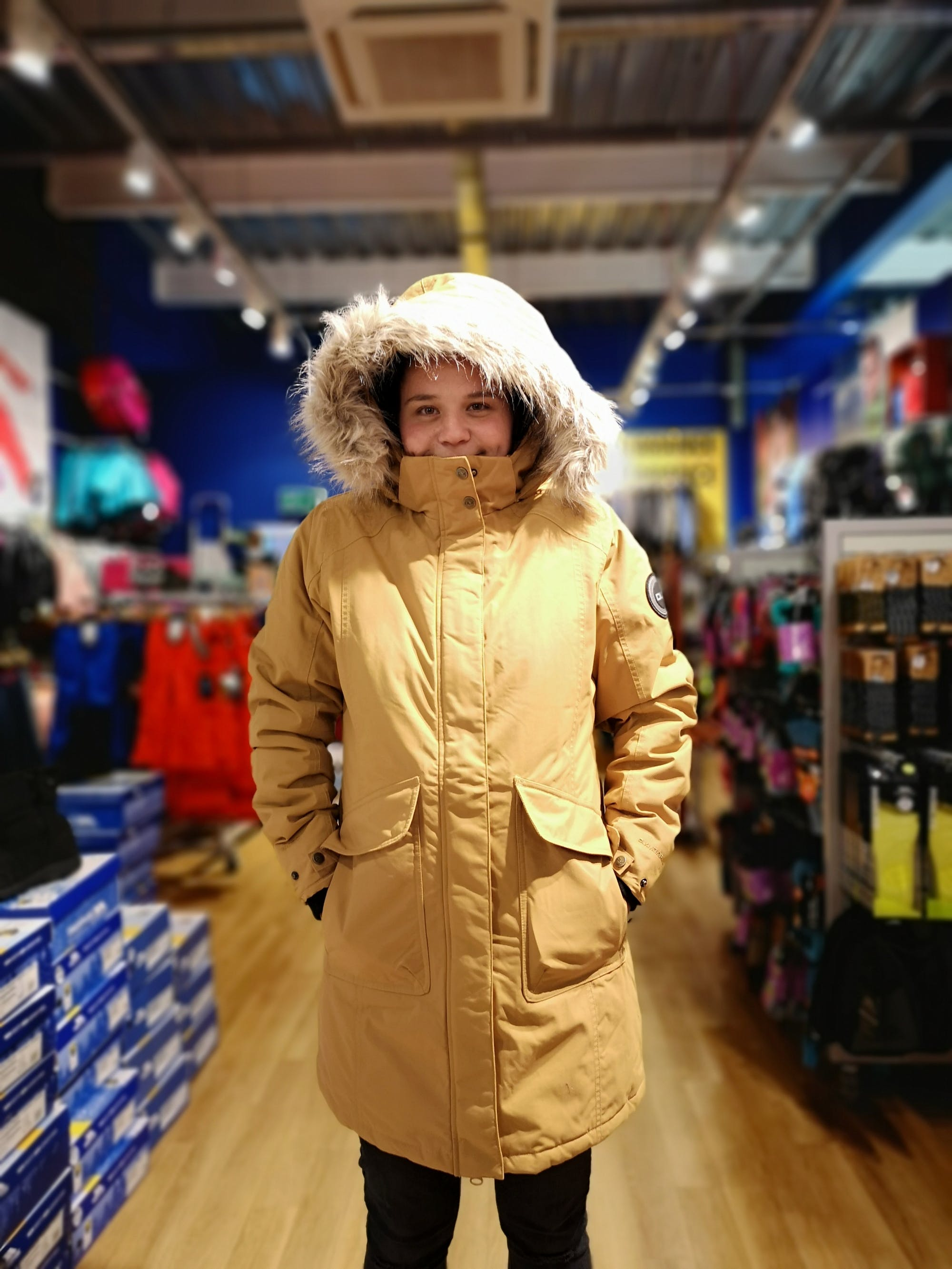 Ladies stay warm and dry with DLX waterproof down filled parka TRESPASS £139.99