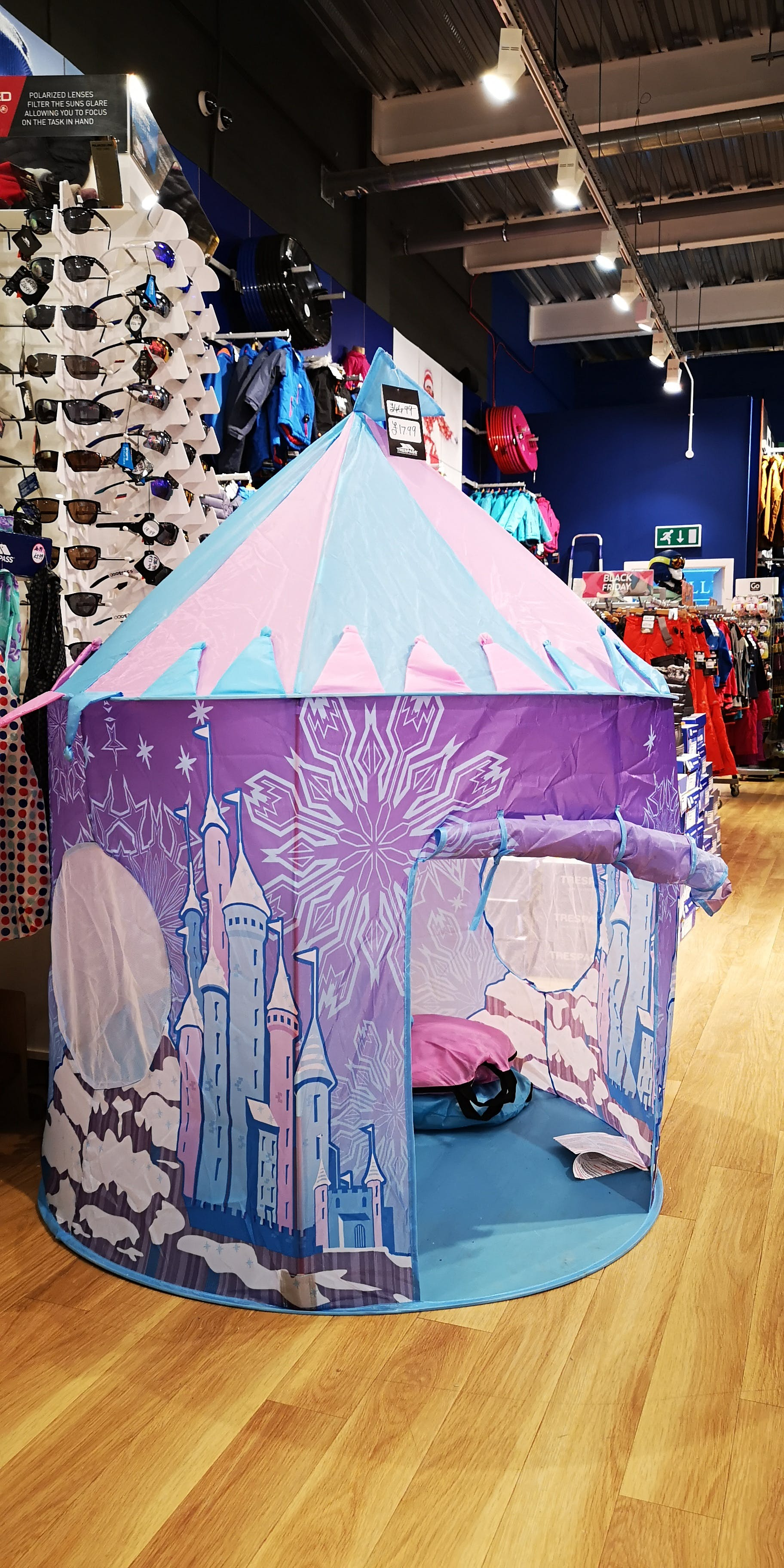Princess ice palace pop-up tent - just let it go! TRESPASS £17.99