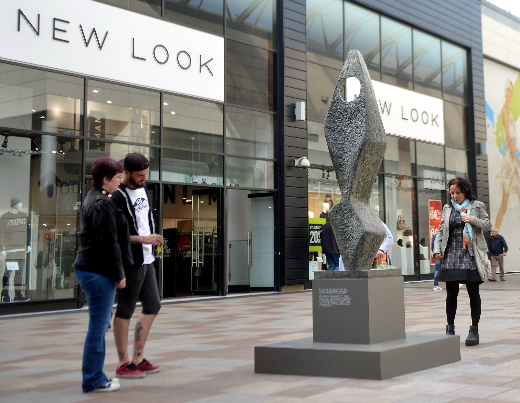 Launch day of the new Hepworth original sculpture installation