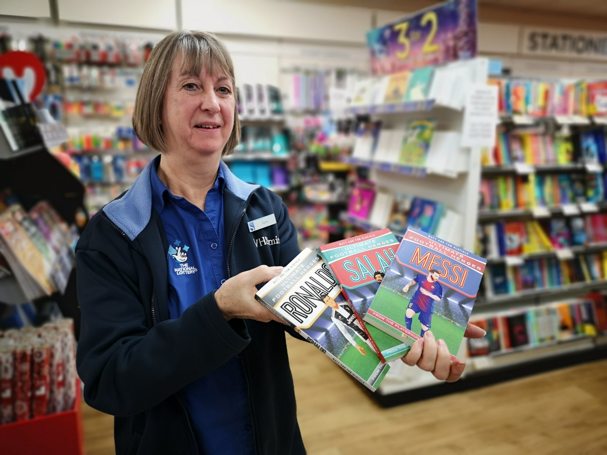 WH Smith hat-trick of mega footy star books on 3-for-2