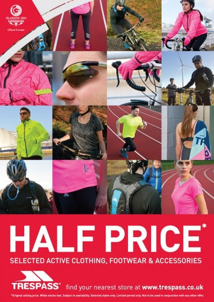 Half Price Selected Active Clothing, Footwear & Accessories at Trespass