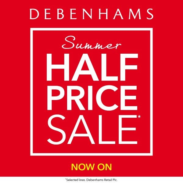 Half price Summer Sale at Debenhams