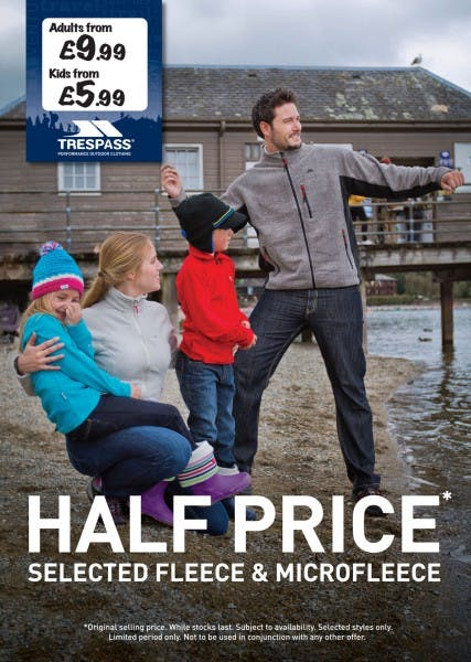Half price sale at Trespass