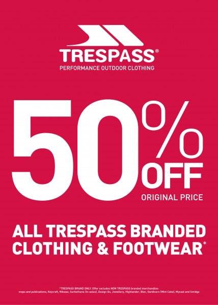 Trespass Half Price Weekender