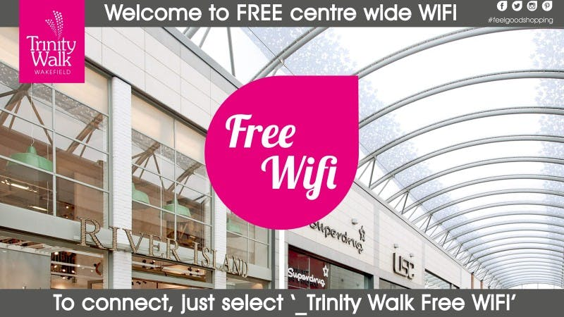 Free WiFi at Trinity Walk