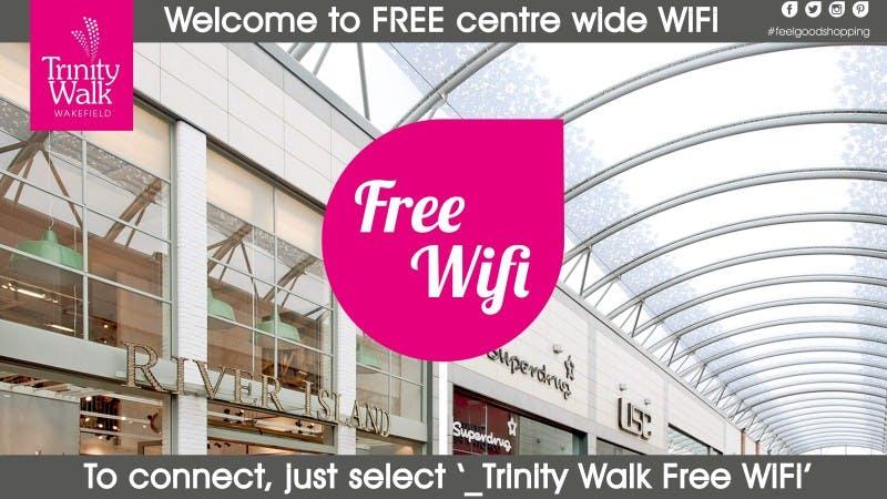 Free WiFi at Trinity Walk