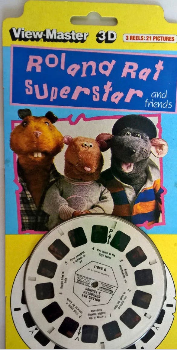 Roland Rat TV-am View Master discs