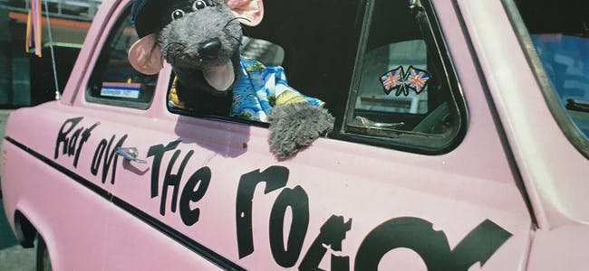 Roland Rat outside TV-am