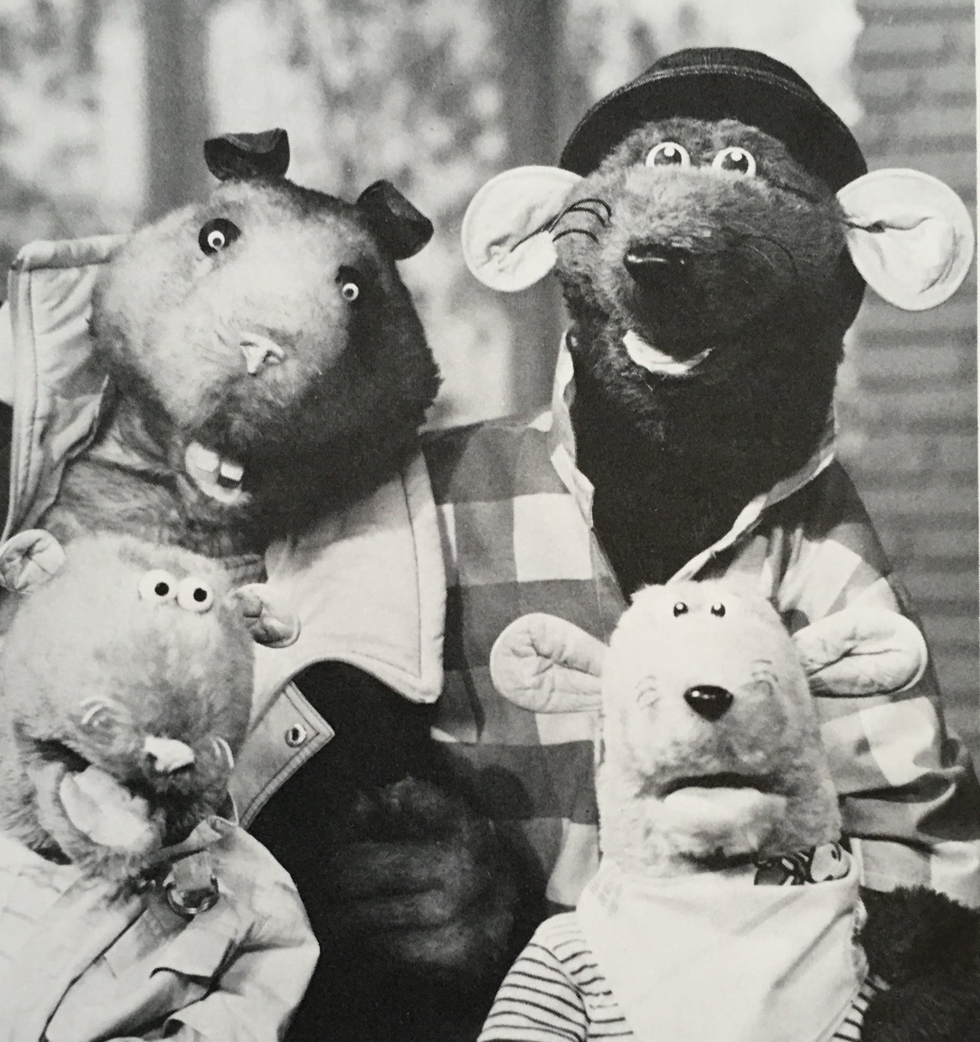 Roland Rat on TV-am set