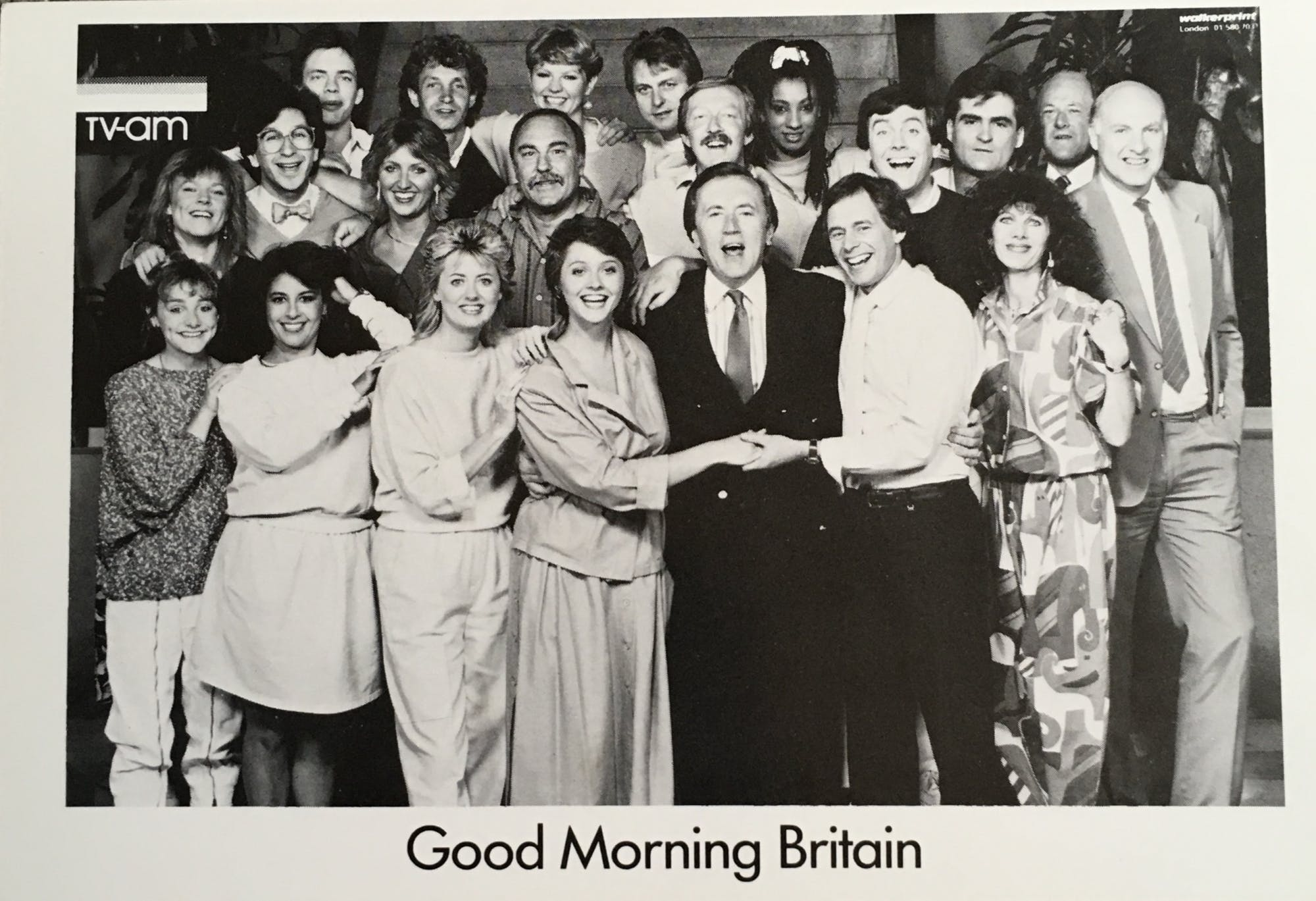 Good Morning Britain team, 1985