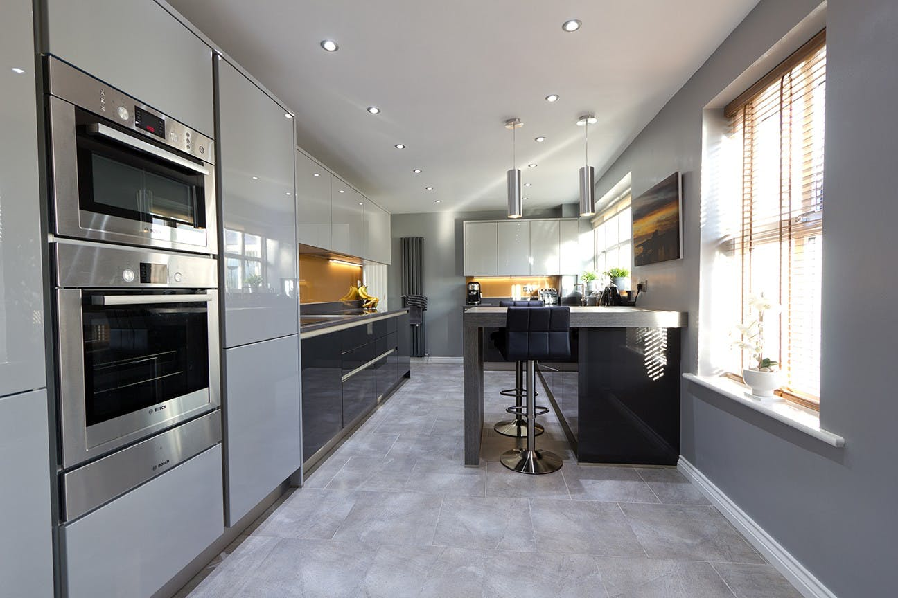 Contemporary Kitchen in Leeds at Rothwell by Twenty 5 Design