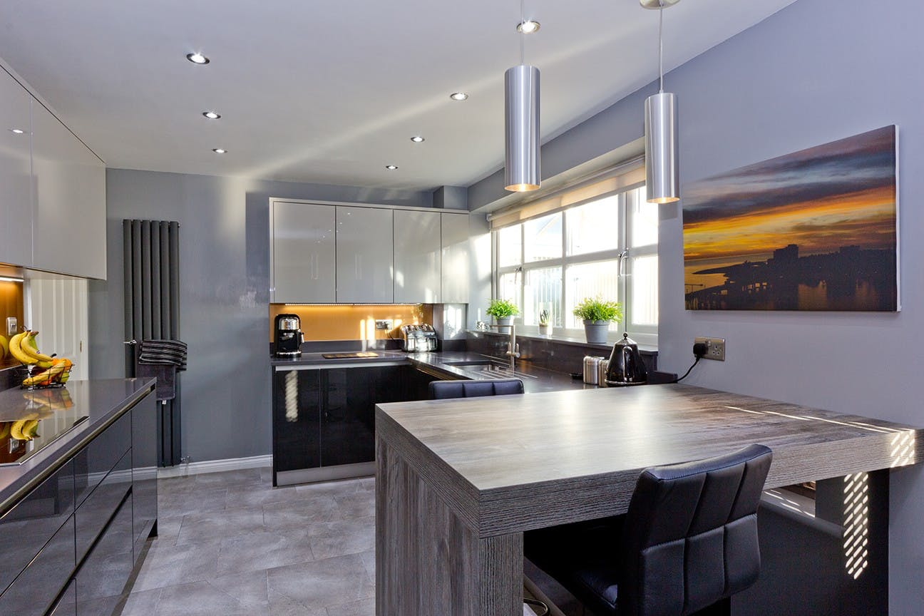 contemporary kitchen in leeds